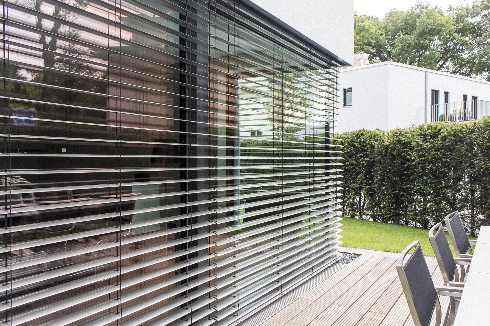 Darmstadt Aluminiumfenster mit Sonnenschutz