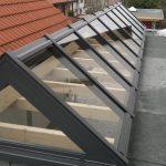 Dachreiter aus Pfosten-Riegel-Konstruktion Satteldach Odenwald